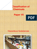 UN Classification of Chemicals- Lecture 1
