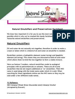 Natural Emulsifiers and Preservative Factsheet FINAL (2