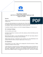 Conference Call Consolidated Q1FY11