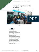Les Transports Publics Gratuits en Ville, Une Idée Qui Avance - Le Parisien
