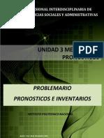 Unidad 3. Problemario Metodos de Pronosticos