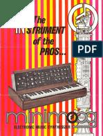 Moog Mininimoog Brochure 1972