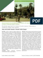 Aproximación Bioclimática Para El Diseño de Espacios Públicos, Análisis Inicial en Distintas Plazas Chilenas