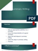 Summary Writing1