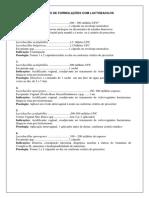 Sugestões de Formulações Com Lactobacilos