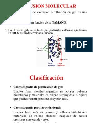 clasificacion de los geles pdf
