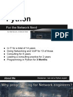Python for the Network Nerd