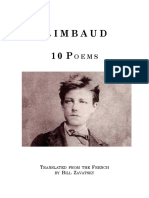 Zavatsky Trans Rimbaud Ten Poems