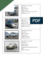 Car Comparrison