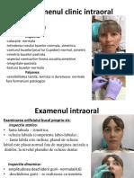 Examenul Clinic Intraoral
