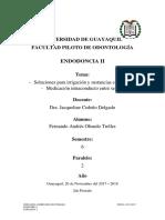 Endodoncia II Grupo 3 1p Resumen 20-11-2017