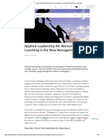 Applied Leadership #8_ Mentoring and Coaching is the New Management _ LinkedIn