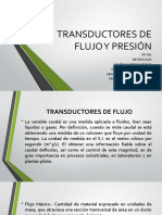 Transductores de Flujo y Presión