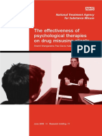 The Effectiveness of Psychological Therapies on Drug Misusing Clients