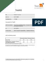 Cognitive Skills (TestAS Certificate Germany)
