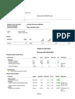 Reporte de RAM Connection Standalone V8i