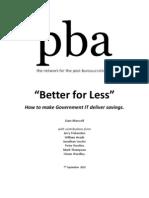 Better for Less
