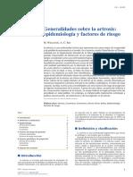 01 - Generalidades Sobre La Artrosis Epidemiología y Factores de Riesgo
