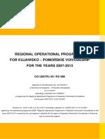 Regional Operational Programme for K-P Voivodeship-V2-KE Wersja Ujednolicona Grudzien 2011