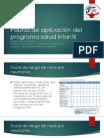 Pautas de Aplicación Del Programa Salud Infantil