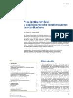 04 - Mucopolisacaridosis y Oligosacaridosis Manifestaciones Osteoarticulares