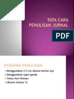 Tata Cara Penulisan Jurnal