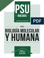 Biología 3 2016 - Biología Molecular y Humana