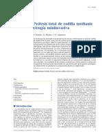01 - Prótesis Total de Rodilla Mediante Cirugía Miniinvasiva