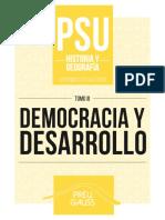 Historia y Geografía 3 2016 - Democracia y Desarrollo
