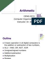 Computer Organizations Arithmetic