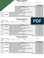 Informática  II-FICHAS AUTOEVALUATIVAS-actualizadas