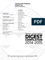 Recent Jurisprudence Digest Compilation, 2014-2015