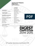 Recent Jurisprudence Digest Compilation, 2014-2015