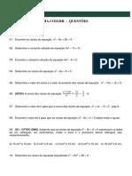 Exercicios( Equação 2ª Grau )