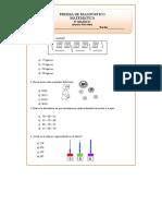 3° Básico Matemáticas Prueba de Diagnóstico