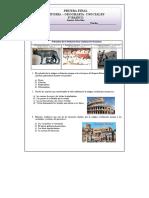 3° Básico Historia y Geografía Prueba Final