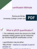 Methods for Quantification of QPCR Data
