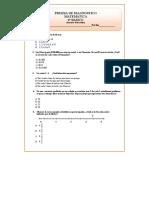 6º Básico Matemáticas Prueba de Diagnóstico