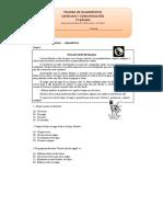 7º Básico Lenguaje y Comunicación Prueba de Diagnóstico