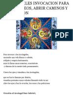 4 Arcangeles Invocacion Para Pedir Deseos, Abrir Camino