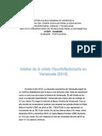 Inicios de la crisis hiperinflacionaria en Venezuela 2015