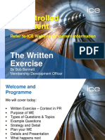 2014 Feb Written Exercise Webinar Download 1