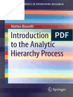 Introduction to the Analytic Hierarchy Process Book - Matteo Brunelli
