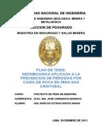 Geomecanica Aplicada a La Prevencion de Perdidas Mina San Cristobal