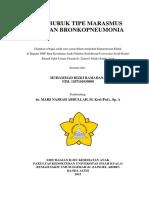 Gizi Buruk Tipe Marasmus Dengan Bronkopneumonia