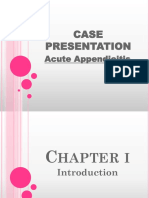 45094644 Case Presentation Appendicitis