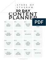 30 Day Content Planner Embedded