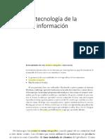 La Tecnología de La Información