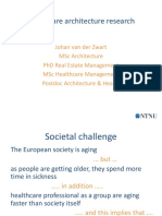 Van Der Zwart (2016) Lecture Healthcare Architecture Research