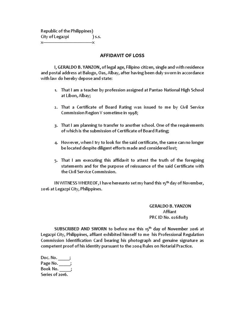 Affidavit Of Loss Template School Application Template Sample  1517323094?vu003d1 Affidavit Of Loss  Affidavit Of Loss Template